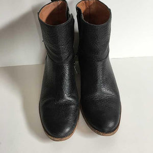 Madewell black leather ankle boots booties 7
